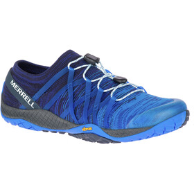 Merrell Trail Glove 4 Knit Shoes Women Blue Sport